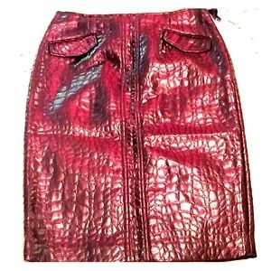 DONCASTER SHIMMERY GATOR LOOK SKIRT nwt